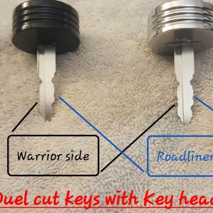 Duel cut Yamaha keys for my Warrior and Roadliner and key heads